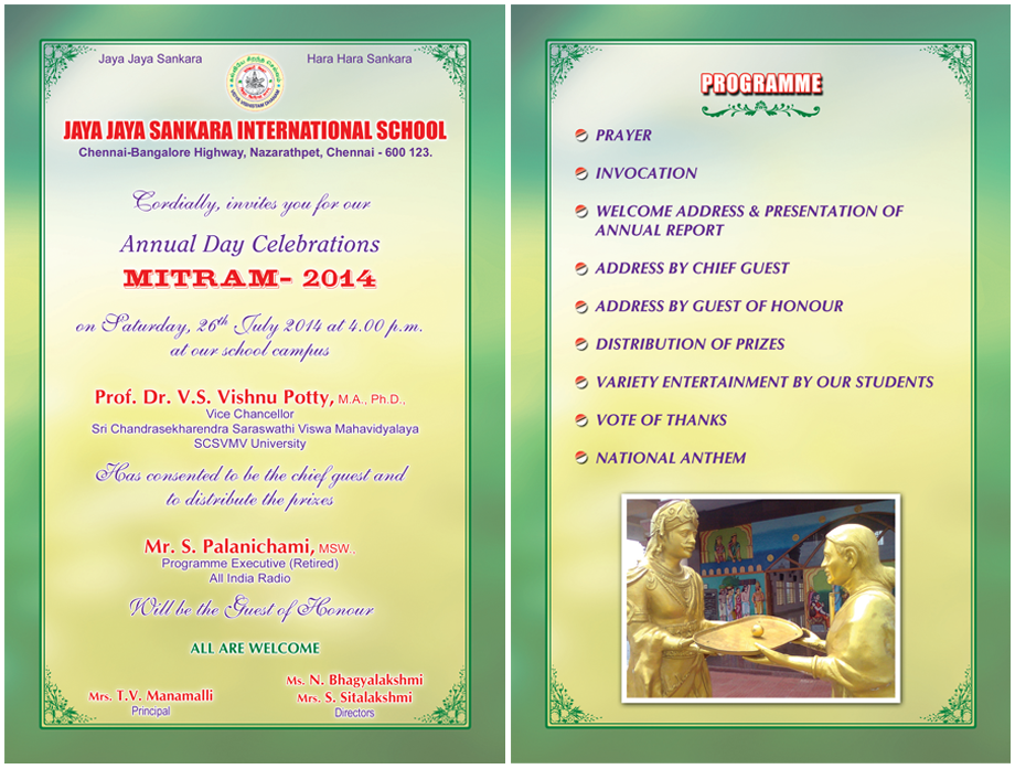 Jjsis annual day invitation stopboris Choice Image